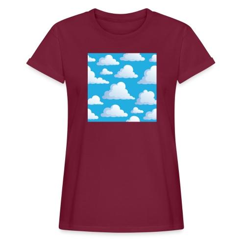 Cartoon_Clouds - Women's Oversize T-Shirt