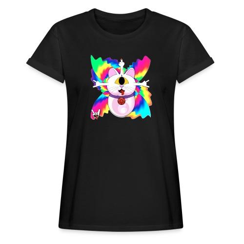 Chat diabolique - T-shirt oversize Femme