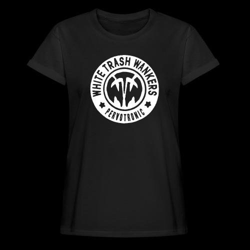 White Trash Wankers Pervotronic-Logo - Frauen Oversize T-Shirt