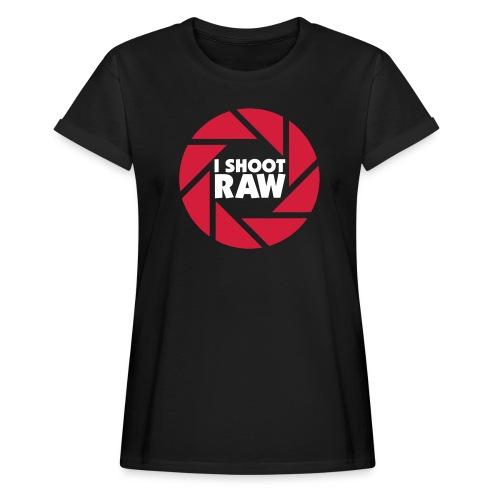 I shoot RAW - weiß - Frauen Oversize T-Shirt