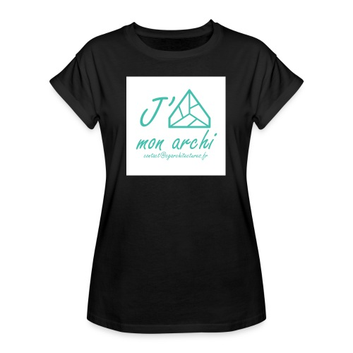 J aime mon archi - T-shirt oversize Femme