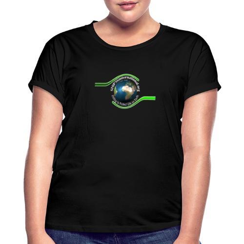 LOGO white font - Women's Oversize T-Shirt