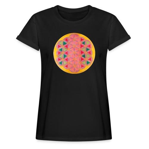 Blume des Lebens - Frauen Oversize T-Shirt