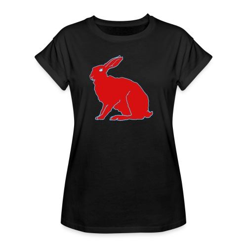 Roter Hase - Frauen Oversize T-Shirt