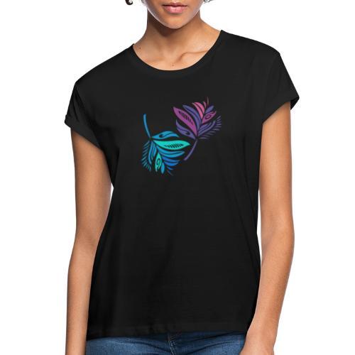 foglie geometriche - Maglietta ampia da donna