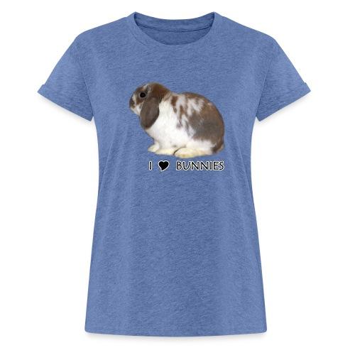 I Love Bunnies Luppis - Naisten oversized-t-paita