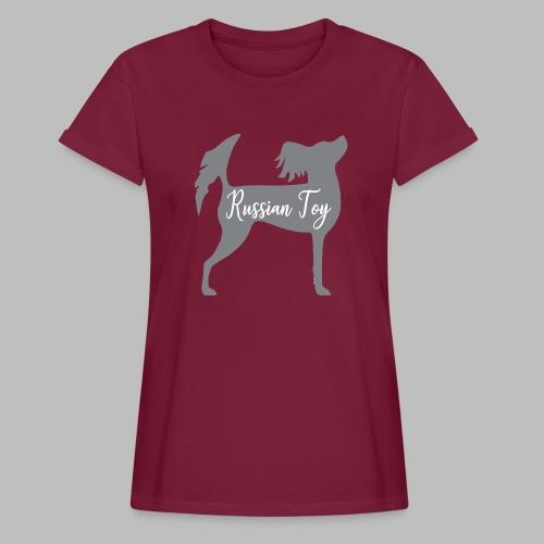 RT uusi pitkä - Naisten oversized-t-paita