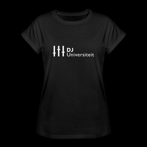 DJ-U (WIT) - Vrouwen oversize T-shirt