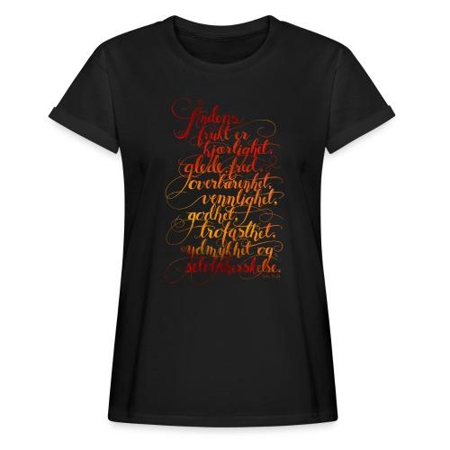 Åndens frukt - Oversize T-skjorte for kvinner