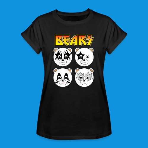 Kiss Bears square.png - Women's Oversize T-Shirt
