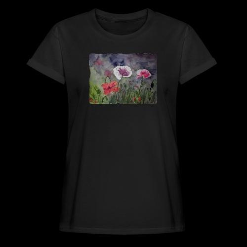 Mohnblume - Frauen Oversize T-Shirt