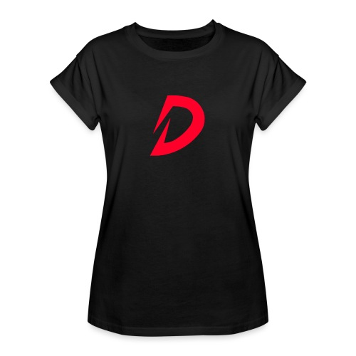 Destra Logo by Atelier render red - Vrouwen oversize T-shirt