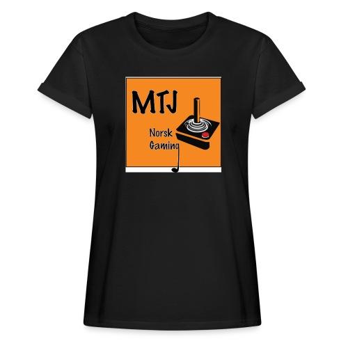 Mtj Logo - Oversize T-skjorte for kvinner
