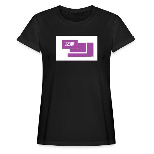 thoughtful mom gay design box logo - Naisten oversized-t-paita