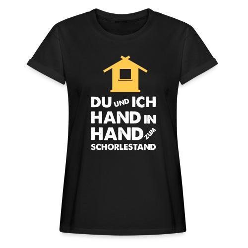 Hand in Hand zum Schorlestand / Gruppenshirt - Frauen Oversize T-Shirt