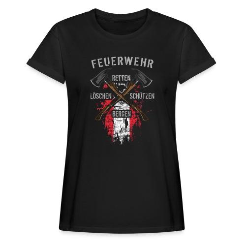 Retten Löschen Bergen Schützen - Frauen Oversize T-Shirt