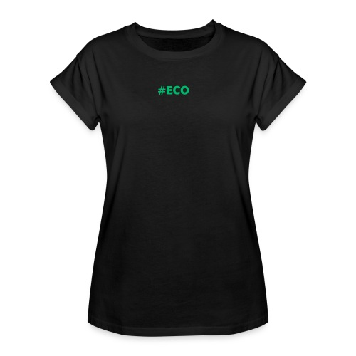#ECO Blue-Green - Frauen Oversize T-Shirt