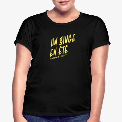 LOGO baseline jaune - T-shirt oversize Femme