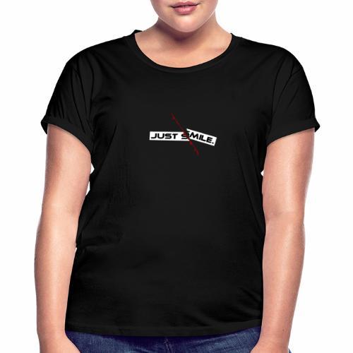 JUST SMILE Design mit blutigem Schnitt, Depression - Frauen Oversize T-Shirt