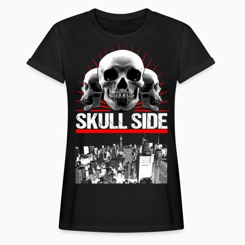 skull side city - Frauen Oversize T-Shirt