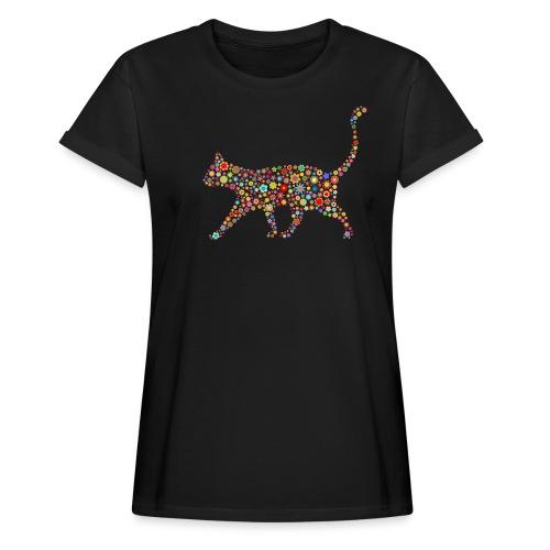 Vorschau: flower cat - Frauen Oversize T-Shirt