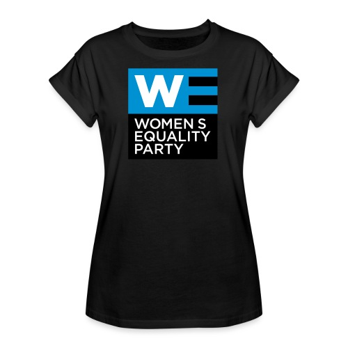 WE_LOGO_LOGO_BLUE_CMYK - Women's Oversize T-Shirt