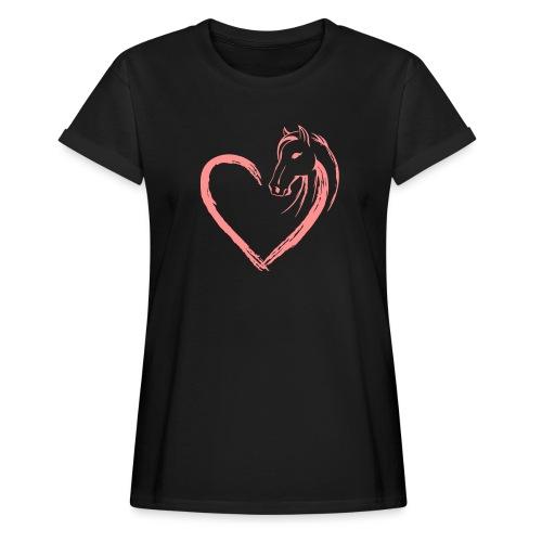 Vorschau: Pferde Herz - Frauen Oversize T-Shirt