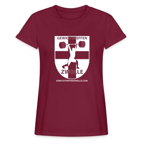Bestsellers Gewichtheffen Zwolle - Vrouwen oversize T-shirt