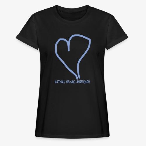 Hjärta med text - Oversize-T-shirt dam
