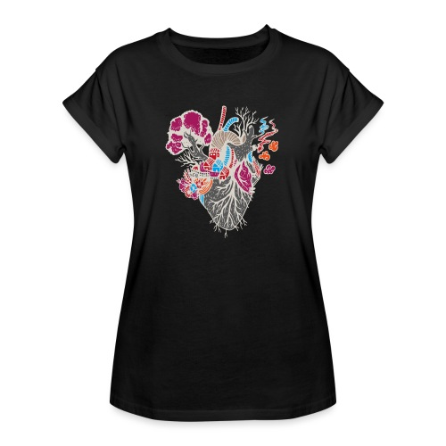 xxxx is where your heart is - Frauen Oversize T-Shirt