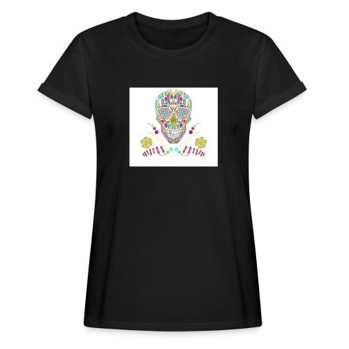 Bunter Totenkopf - Frauen Oversize T-Shirt