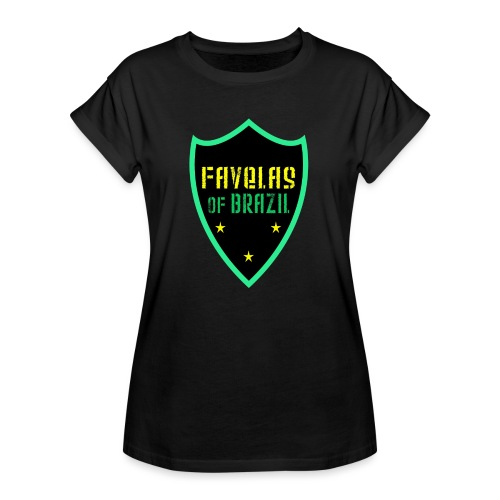FAVELAS OF BRAZIL NOIR VERT DESIGN - T-shirt oversize Femme