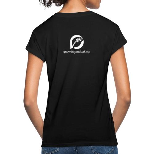 farningandbaking onlywhite - Frauen Oversize T-Shirt