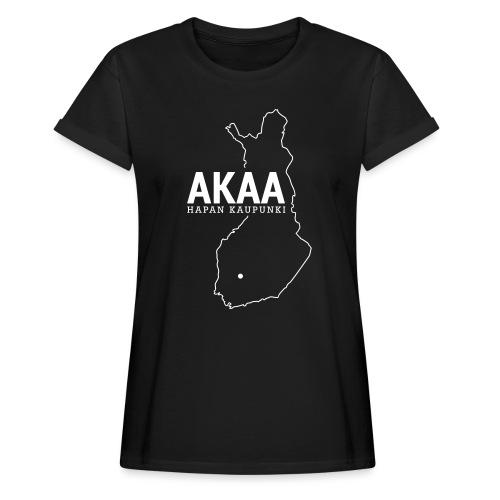 Kotiseutupaita - Akaa - Naisten oversized-t-paita