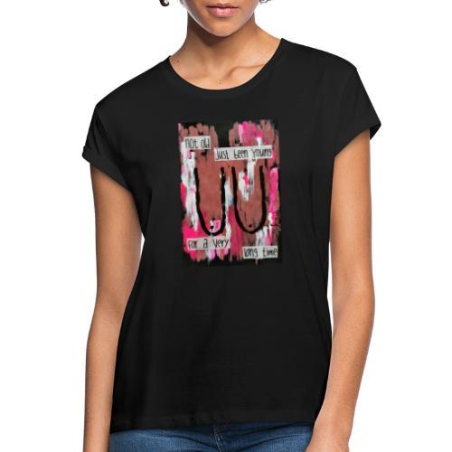BOOBS print - Oversize T-skjorte for kvinner