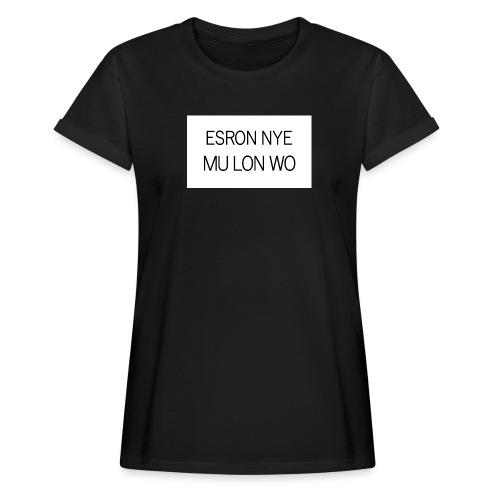 ESRON NYE MU LON WO - T-shirt oversize Femme