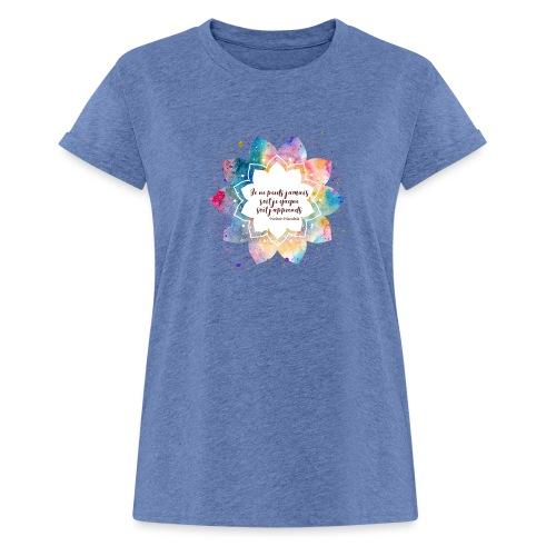 Citation de Nelson Mandela - T-shirt oversize Femme