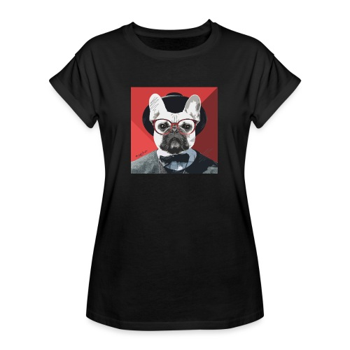 French Bulldog Artwork 2 - Frauen Oversize T-Shirt