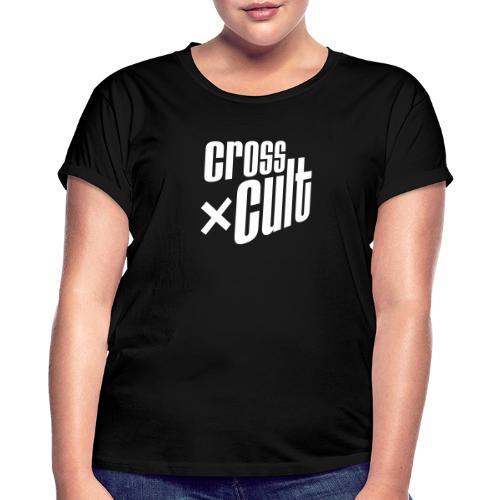 Cross Cult Logo Weiß - Frauen Oversize T-Shirt