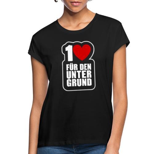 1 Herz für den Untergrund - Logo weiß - Frauen Oversize T-Shirt