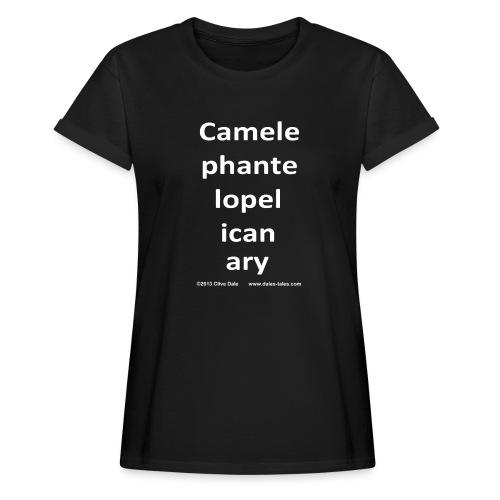 camelepha 5lines white - Women's Oversize T-Shirt