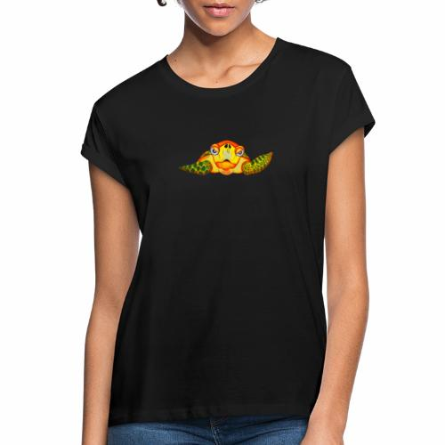 Boze Turtle Fluo - Vrouwen oversize T-shirt