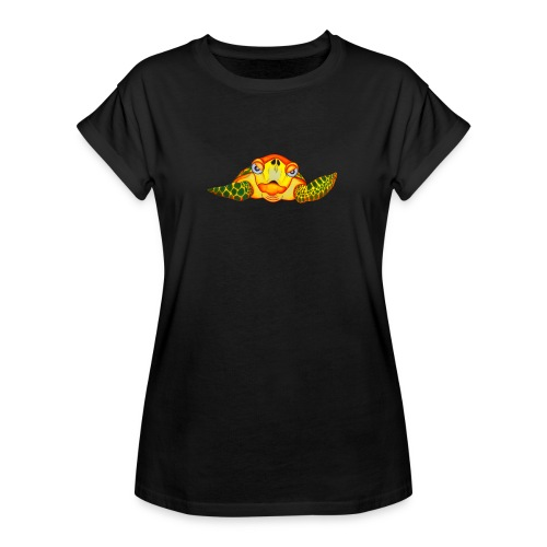 Angry Turtle Fluo - T-shirt oversize Femme