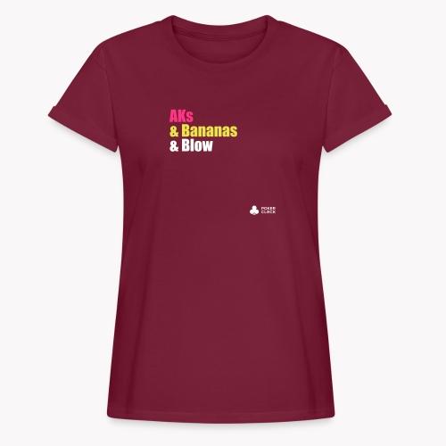 AKs & Bananas & Blow - Frauen Oversize T-Shirt