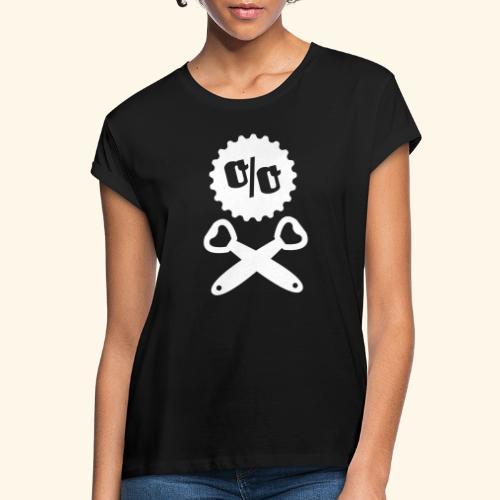 Bier T Shirt Design Piratenflagge - Frauen Oversize T-Shirt