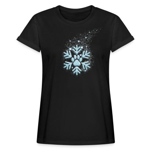 Vorschau: dog paw snowflake - Frauen Oversize T-Shirt