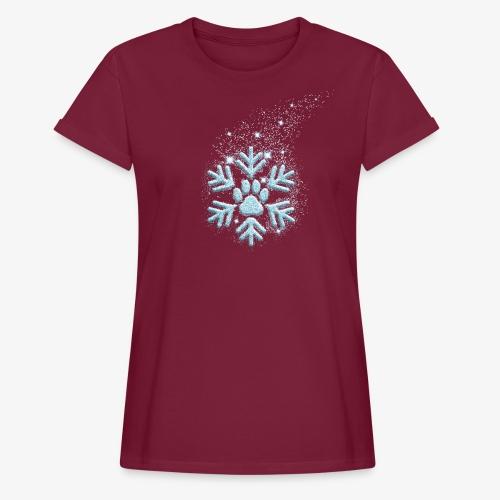 dog paw snowflake - Frauen Oversize T-Shirt