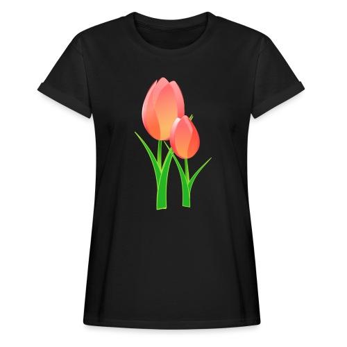 Belle fleur - T-shirt oversize Femme