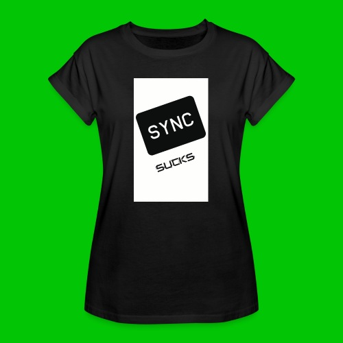 t-shirt-DIETRO_SYNK_SUCKS-jpg - Maglietta ampia da donna