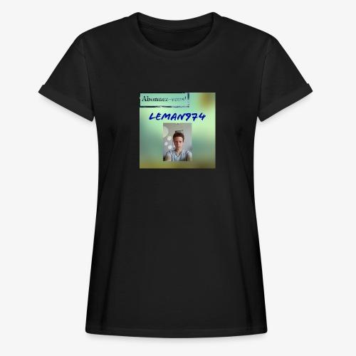 Leman974 logo - T-shirt oversize Femme